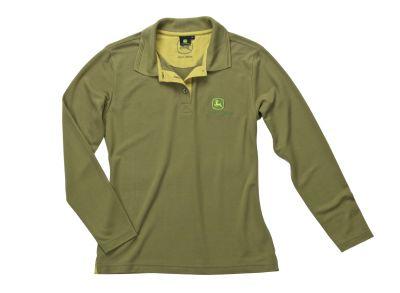 Damen Langarm-Poloshirt