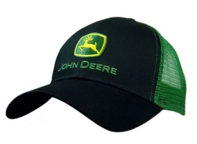 JD Trucker Cap, Black/Green