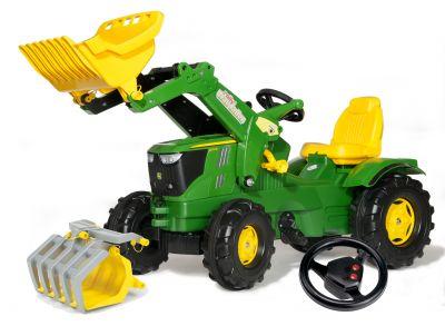 rollyFarmtrac John Deere 6210R-traktor, utrustad för lantbruk