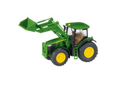 John Deere 7280R traktor med frontlastare