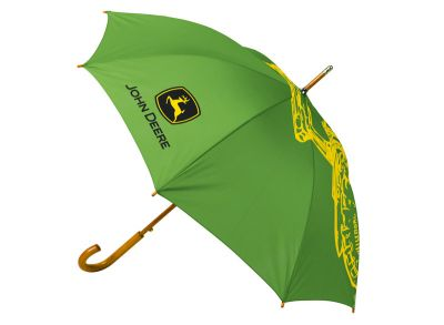 Grüner Regenschirm