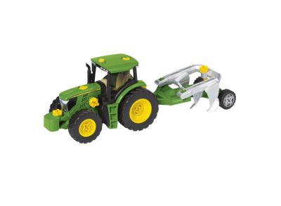 Bauset Traktor mit verschiedenen Anhängern und Pflug