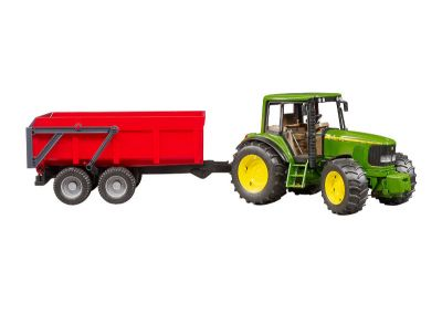 John Deere Tractor 6920 with Tipping Trailer
