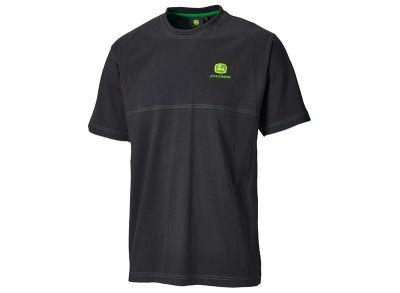 Czarny T-shirt zozdobnym szwem