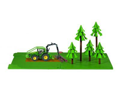 Bosbouwset met John Deere trekker