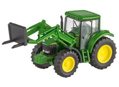 John Deere 6820S-traktor med frontgaffel