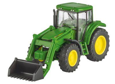 John Deere 6820S-traktor med frontlastare