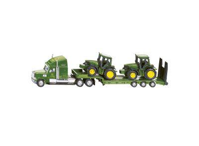 Semi-remorque avec tracteurs John Deere