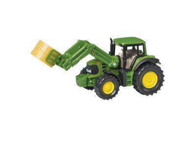 John Deere Traktor mit Ballenzange
