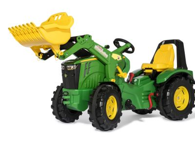 rollyX-Trac John Deere 8400R Tractor with Front Loader, 2-gear Shift and Brake