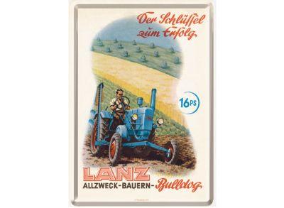 Lanz Blech-Postkarte