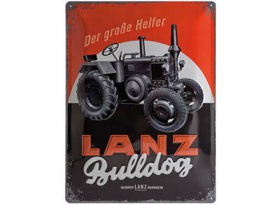Lanz Plakietka emaliowana 30 x 40 cm - Bulldog