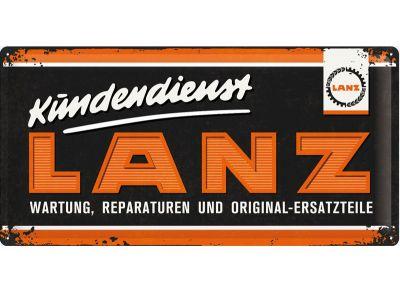 Lanz Blechschild 25 x 50 cm -  Kundendienst