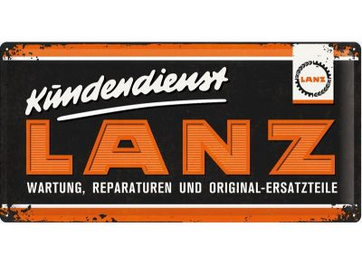 Lanz Tin Sign 25 x 50 cm -  Kundendienst