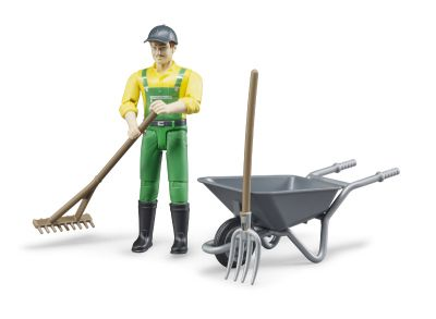 Zestaw z figurką rolnika