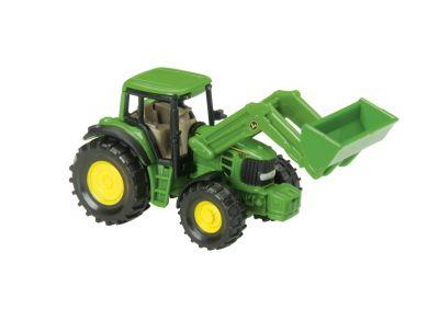 John Deere -traktori etukuormaajalla