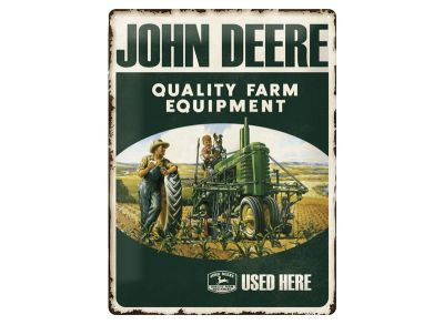 Insegna metallica 30 x 40 cm - Quality Farm Equipment