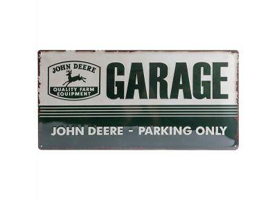 Placa metálica 25 x  50 cm- Garage