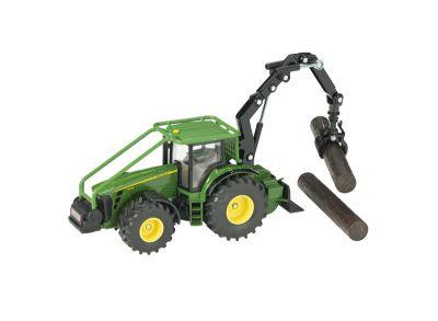 John Deere Tractor 8430 met bosbouw kraan