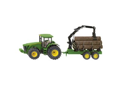 John Deere Tractor 8430 with Forestry Trailer