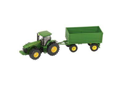 John Deere 8430 -traktori ja perävaunu