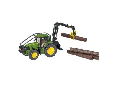 John Deere -traktori metsävarustein