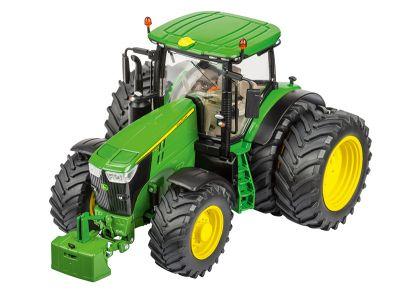 John Deere 7310R-tractor met dubbele wielen