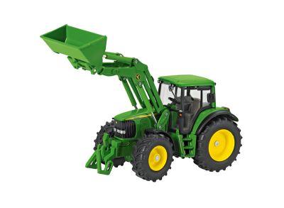 John Deere traktori 6820 etukuormaa