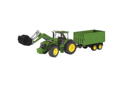 John Deere Tractor 7930 with Front Loader and Tandemaxle Tipping Trailer