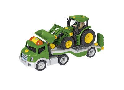 Juego de montaje de transportador con tractor y cargadora frontal
