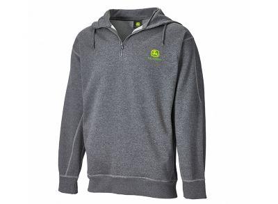 Jersey gris con cremallera Y capucha