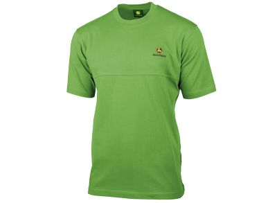 Green T-Shirt with Decorative Seam