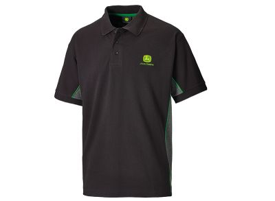Polo Shirt with Contrast Side Panels