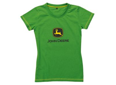 T-shirt verde de mulher com logótipo