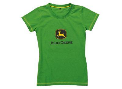 T-shirt vert de femme 'Logo'