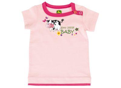T-shirt bébé avec imprimés d'animaux