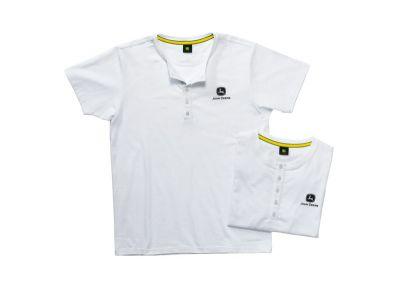 T-Shirt mit Knopfleiste im 2er Set