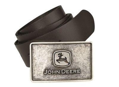 Cinturón de cuero con hebilla con grabados