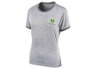 Grå aktiv t-shirt för dam
