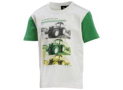 T-shirt enfants avec imprimé de photo tracteur