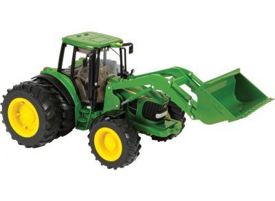 Tracteur JohnDeere6830 Premium avec roues jumelées et chargeur frontal