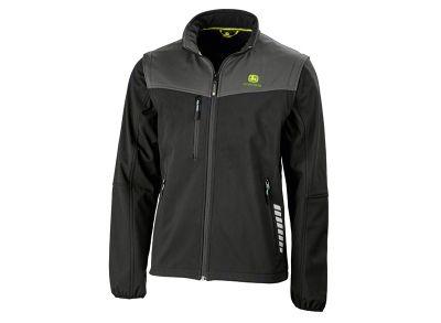 Schwarze Softshell-Jacke mit abnehmbaren Ärmeln