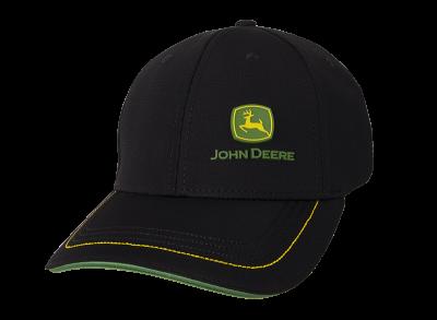Cappellino in piqué con logo in gomma