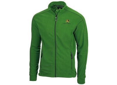 Groene microfleece jas