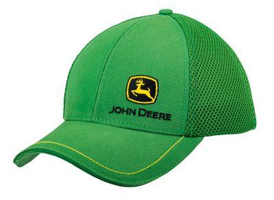 Cappellino in rete verde con logo