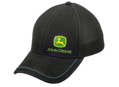 Gorra de malla con logo, negra