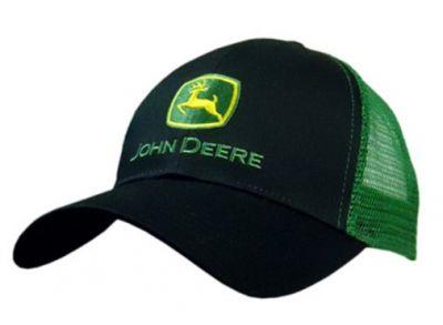JD Trucker Cap, Black/Green