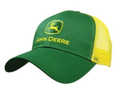 JD Trucker Cap, Green/Yellow