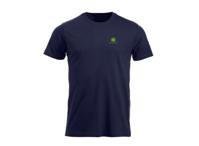 Navy T-shirt `John Deere` with logo on front and back