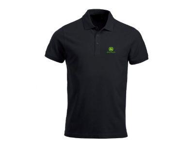 Black Polo Shirt `John Deere`